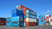 Container an den docks