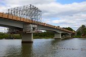 stock photo of moselle  - View of the bridge  - JPG