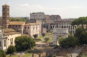 Roman Forum With Coliseum