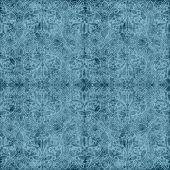 Vintage Blue Floral Tapestry