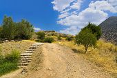 Pathway To Mycenae Ruins, Greece