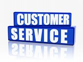 Customer Service In Blue Blocks