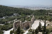 The Odeum Theater In Athens And City