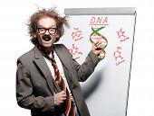 stock photo of madman  - Crazy professor  - JPG