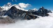 vista del everest de gokyo ri