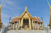 The Temple Wat Phra Kaeo In The Grand Palace Area