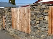 Schist  And Wooden Fence