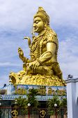 stock photo of shankar  - Deity Shankar statue at the Shiva temple of Minburi Bangkok - JPG
