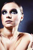 Lady With Smoky Eye Makeup