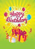 Happy Birthday vector card