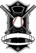foto of fastpitch  - Baseball or Softball Illustration with Bats Ornate Graphic Vector Template - JPG