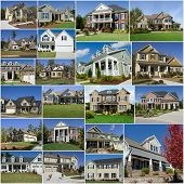 Suburban houses collage