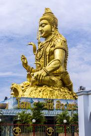 picture of shankar  - Deity Shankar statue at the Shiva temple of Minburi Bangkok - JPG