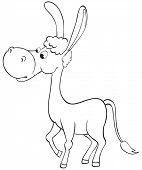 Fun Outline Donkey