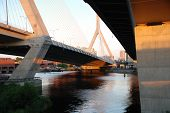 Under The Zakim Bunker Hill Memorial Bridge