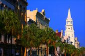 Charleston South Carolina City Streets In Morning Light