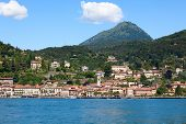 Panoramic view of Menaggio town (Como lake, Italy)