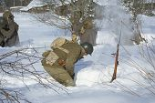 Soviet-finnish War 1939-1940:  Red Army Soldier Is Dug Round In A Snow