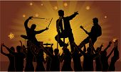stock photo of rap-girl  - Party musicians concert band - JPG