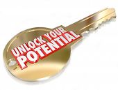 stock photo of encouraging  - A gold key with the words A New Life to symbolize change - JPG