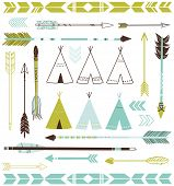 picture of teepee  - Teepee Tents and arrows collection  - JPG