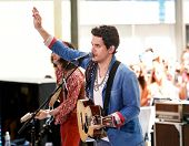 NEW YORK-JUL 5: Singer John Mayer performs on NBC's Today Show at Rockefeller Plaza on July 5, 2013 in New York City.