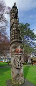 Totem Pole Carved From Cedar