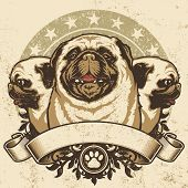 picture of pug  - Pug Crest Design - JPG