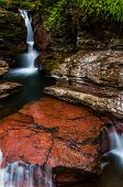 Adam's Falls And A Small Cascade On Kitchen Creek In Ricketts Glen State Park, Pennsylvania.