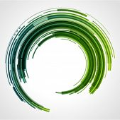 Abstract technology circles vector background with cut paper and shadow. Eps 10.