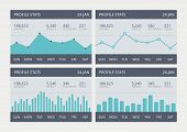 Vektor-Business-Statistik-Charts-Set