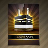 vector illustration of ramadan festival template design