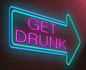 Drunk Concept.