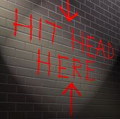 foto of dread head  - Illustration depicting graffiti on a brick wall with a hopeless concept - JPG
