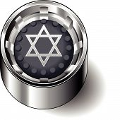 Rubber button round fait judaism