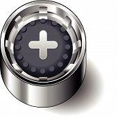 Rubber button round plus