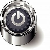 Rubber button round power