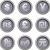 Iconos de moneda internacional