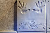 Handprints Of Sylvester Stallone