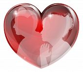 Loving Man And Woman Heart