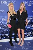 Paris Hilton and Nicky Hilton at the Jimmy Choo For H&M Collection, Private Location, Los Angeles, C