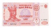 Fifty moldovan banknote
