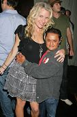 Erin Raftery and Deep Roy  at the World Cup Showdown Fundraiser, El Guapo Cantina, Los Angeles, CA.