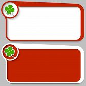 Two Red Vector Text Box And Cloverleaf
