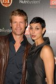 Joel Gretsch and Morena Baccarin at the TV GUIDE Magazine's Hot List Party, SLS Hotel, Los Angeles, CA. 11-10-09