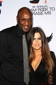 Lamar Odom and wife Khloe Kardashian at the 19th Annual Race To Erase MS, Century Plaza, Century City, CA 05-19-12