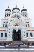 Orthodox Cathedral In The Tallinn