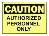picture of osha  - OSHA caution authorized personnel warning sign isolated on white - JPG