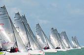 Starting Line At The Melges 20 World Championships