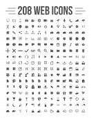 picture of solids  - Easy editable 208 solid media and communication icons - JPG